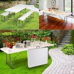 ProBache - Table pliante portable 180 cm et 2 bancs pliables pour camping buffet de la marque Probache image 1 produit