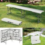 ProBache - Table pliante portable 180 cm et 2 bancs pliables pour camping buffet de la marque Probache image 3 produit
