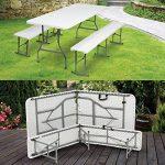 ProBache - Table pliante portable 180 cm et 2 bancs pliables pour camping buffet de la marque Probache image 4 produit