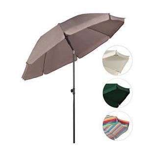 Sekey® Parasol Ø 200 cm inclinable pour patio jardin balcon piscine plage Beige/ Taupe Rond Sunscreen UV25+ de la marque Sekey image 0 produit