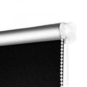 SHINY HOME® Stores enrouleurs Store Enrouleur Occultant Rideau Rideaux 120x230cm Largeur Ajustable Verso Enduit Argent Réfléchissant Les Rayons Du Soleil Set Taille Et Couleur Au Choix (Noir) de la marque SHINY HOME® image 0 produit