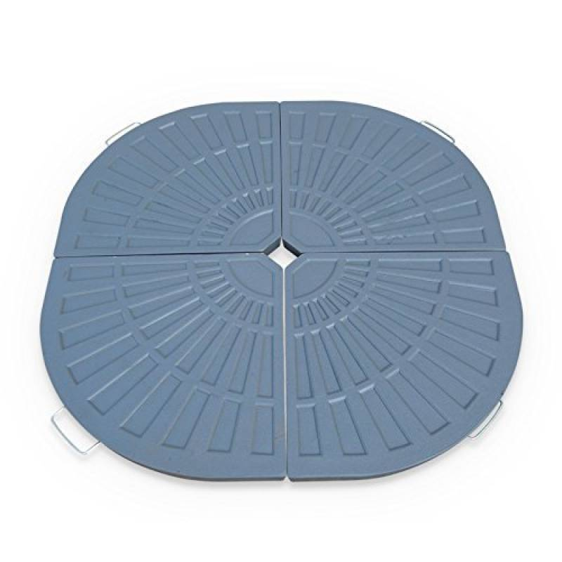Festnight- Pied de Parasol Base de Parasol Support Parasol Noir 20 kg Socle de Parasol en b/éton