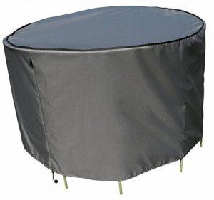 sorara–Housse de protection pour table ronde | Gris | Ø 153x 90cm (L/L x H) | imperméable | Polyester & Revêtement PU | pour mobilier de jardin de la marque Sorara Outdoor Living B.V. - EUROPA image 0 produit