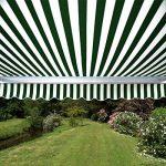 Store Banne Budget Manuel - 4m x 3m (Rayures Vertes et Blanches) de la marque Primrose image 2 produit