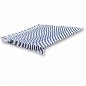 Store banne en toile Bleu et Blanc 4 x 3 m (Cadre non inclus) de la marque vidaXL image 0 produit