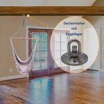 Support de plafond pour avec roulements pour fauteuil suspendu   jusqu'à 230kg bis 120 Kg, Edelstahl de la marque Kliffhänger image 1 produit