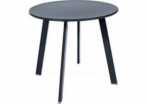 Table basse en acier - Utilisation extérieure et intérieure - Coloris GRIS Ardoise de la marque HESPERIDE image 0 produit