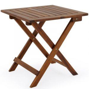 Table basse pliante en bois - Tables jardin d'appoint - 46x46cm pliable - Acacia de la marque Deuba image 0 produit