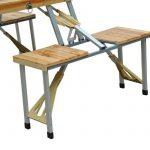 TABLE DE CAMPING JARDIN PIQUE-NIQUE PLIANTE EN BOIS AVEC 4 SIÈGES NEUF 04 de la marque Homcom image 4 produit