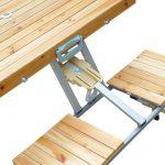 TABLE DE CAMPING JARDIN PIQUE-NIQUE PLIANTE EN BOIS AVEC 4 SIÈGES NEUF 04 de la marque Homcom image 5 produit