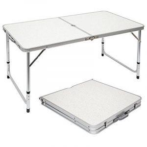Table de Camping Portable Pliante en Mallette Table de pique-nique Réglable en Hauteur env 120x60cm de la marque AMANKA image 0 produit