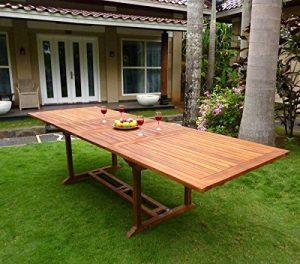 Table de jardin XXL en teck huilé - double rallonge papillon 200-300 cm de la marque Wood-en-Stock image 0 produit