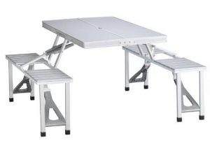Table de pique-nique Campart Travel TA-0820 – Système de pliage sécurisé – Aluminium de la marque Campart image 0 produit