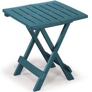 Table en plastique Adige – 45 cm x 43 cm x 50 cm Différents coloris. Vert de la marque PROGARDEN image 0 produit