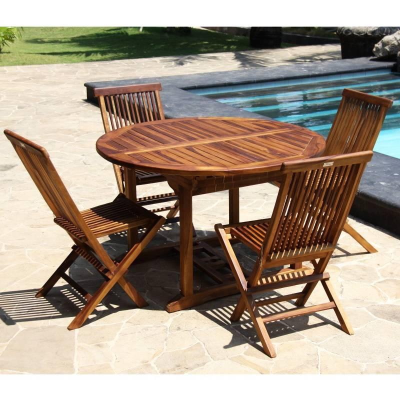 Table et chaise de jardin teck, choisir les meilleurs ...