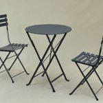 TABLE PLIANTE EN METAL « TROQUET », FORMAT: 60X70 cm, UNE TABLE DE PROFESSIONNELS POUR CHEZ VOUS !!! (Coloris: blanc ou gris anthracite). (GRIS ANTHRACITE) de la marque MOB'S DESIGN image 4 produit
