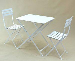 TABLE PLIANTE EN METAL « TROQUET », FORMAT: 60X70 cm, UNE TABLE DE PROFESSIONNELS POUR CHEZ VOUS !!! (Coloris: blanc ou gris anthracite). (GRIS ANTHRACITE) de la marque MOB'S DESIGN image 0 produit
