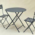 TABLE PLIANTE EN METAL « TROQUET », FORMAT: 60X70 cm, UNE TABLE DE PROFESSIONNELS POUR CHEZ VOUS !!! (Coloris: blanc ou gris anthracite). (GRIS ANTHRACITE) de la marque MOB'S DESIGN image 3 produit