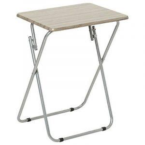 Table TV Pliante Grey - Bois de la marque MOBEA image 0 produit