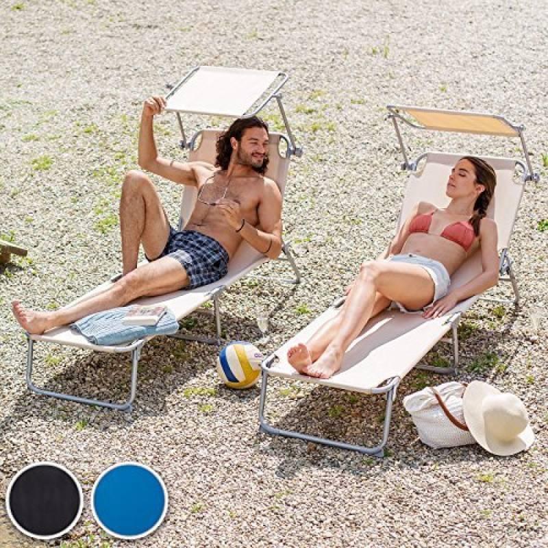 chaise longue en toile pliante comment choisir les meilleurs produits pour 2019 meilleur jardin. Black Bedroom Furniture Sets. Home Design Ideas