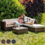 TecTake Salon de Jardin Résine Tressée Poly Rotin Aluminium avec deux Set de Housses, vis en acier inoxydable - diverses couleurs au choix - (Marron mixte) de la marque TecTake image 2 produit