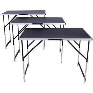 TecTake Table de travail pliante en aluminium pour papier peint 300x 60cm Table caravane camping pique-nique de la marque TecTake image 0 produit