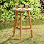 TecTake Table haute de bar restaurant jardin en bois massif pliable bistro pliante Ø78cm de la marque TecTake image 2 produit