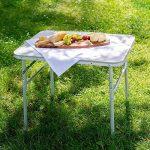 TecTake Table pliante de camping jardin BBQ barbecue pique-nique portable en aluminium de la marque TecTake image 1 produit
