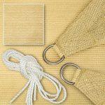 TecTake Voile d'ombrage protection UV solaire toile tendue parasol avec câbles de tension carré   4 x 4 m de la marque TecTake image 2 produit