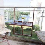 Ultranatura Table de balcon, table suspendue en bois, rabattable, gamme Canberra de la marque Ultranatura image 4 produit