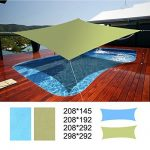 Uniquebella Voile d'ombrage imperméable, Rectangulaire Anti-UV Pour Jardin Patio Camping et randonnée Vert 2.1x1.5M de la marque UNIQUEBELLA image 4 produit