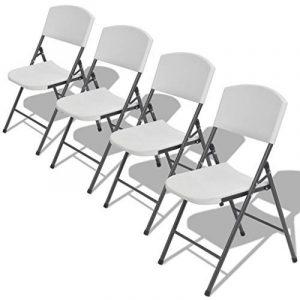VidaXL 4x Chaise de jardin Chaise pliante chaise de camping pliable Banquet Chaise Meubles de jardin haute densité de la marque vidaXL image 0 produit