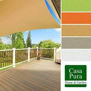 Voile d'ombrage casa pura® en coloris divers | matière imperméable - lavable en machine | taille 3x3m | densité 160g par m² | sable de la marque casa pura image 0 produit