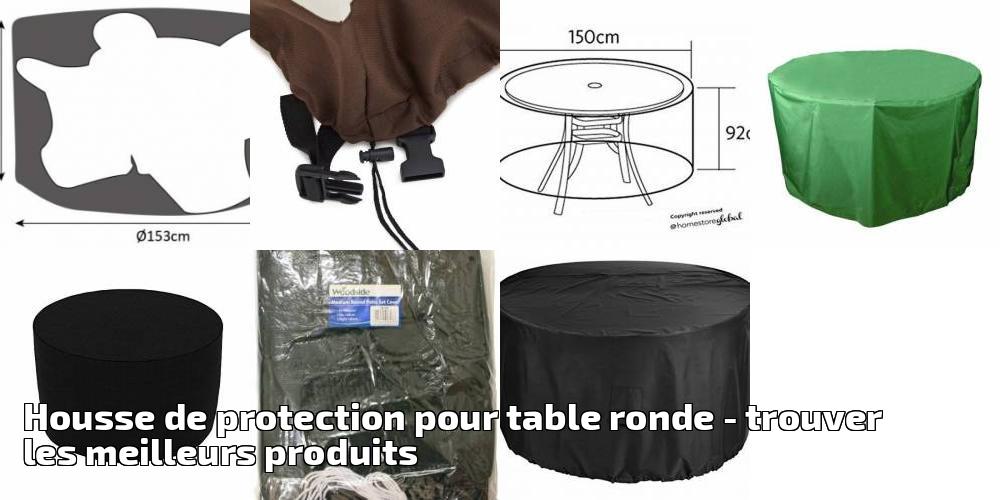 Housse de protection pour table ronde pour 2019 - trouver les ...