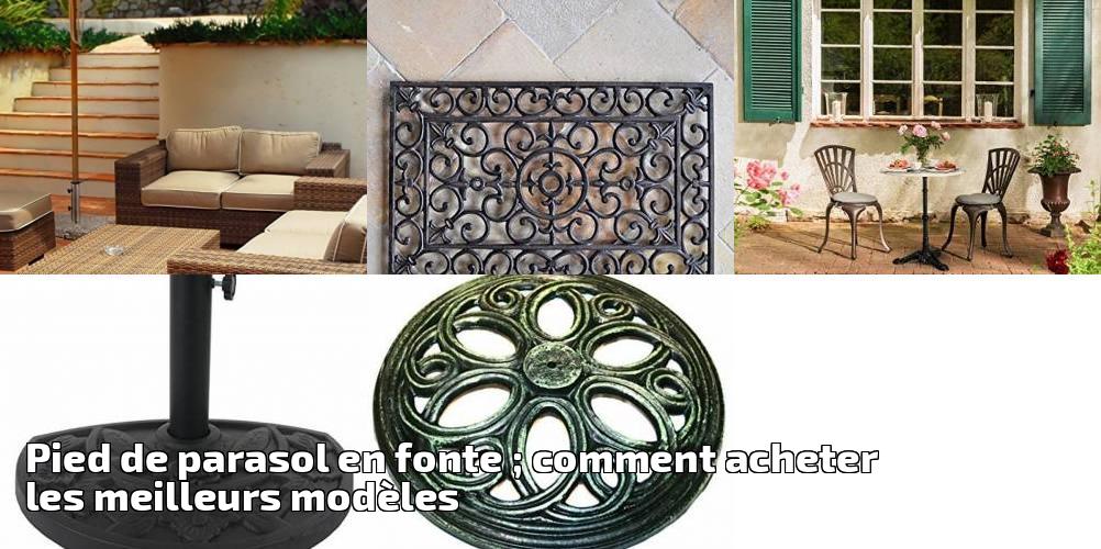 pied de parasol en fonte comment acheter les meilleurs mod les pour 2018 meilleur jardin. Black Bedroom Furniture Sets. Home Design Ideas