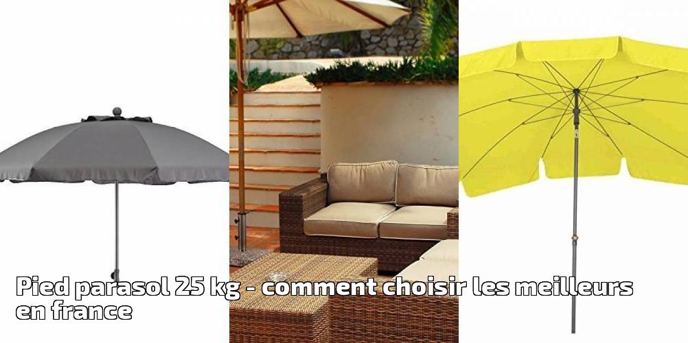 pied parasol 25 kg pour 2018 comment choisir les. Black Bedroom Furniture Sets. Home Design Ideas