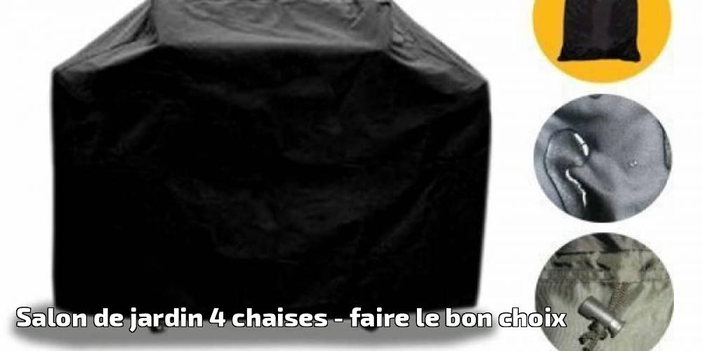 Salon de jardin 4 chaises pour 2019 faire le bon choix - Fabriquer des coussins pour salon de jardin ...