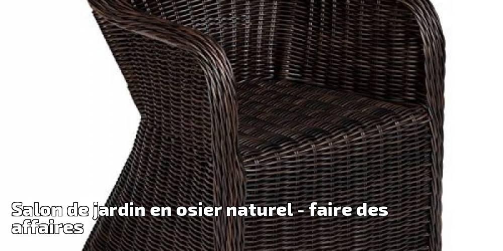 Salon de jardin en osier naturel pour 2019 - faire des affaires ...