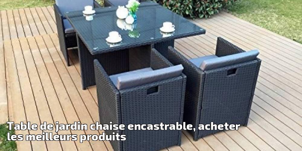 table de jardin chaise encastrable acheter les meilleurs produits pour 2018 meilleur jardin. Black Bedroom Furniture Sets. Home Design Ideas